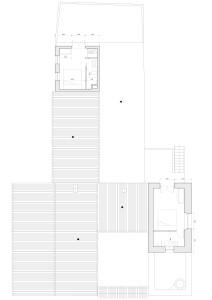 De eerste verdieping; 2 dakterrassen en 2 slaapkamers